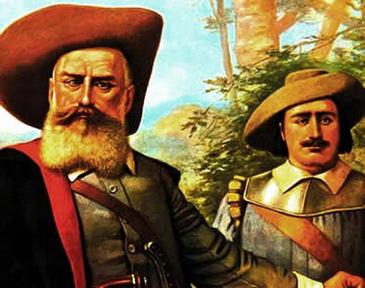 O bandeirante de Benedito Calixto: a construção de uma imagem robusta e heróica. (www.brasilescola.com.br)