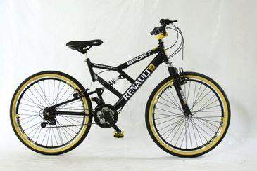 Bikes Renault possuem rodas com aro 16, 20 ou 26, quadro produzido em aço carbono, com modelos femininos e masculinos. Foto: Divulgação (Divulgação)
