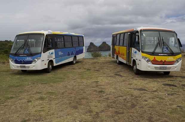 Três novos ônibus na frota do arquipélago de Fernando de Noronha. Foto: ADEFN/Divulgação