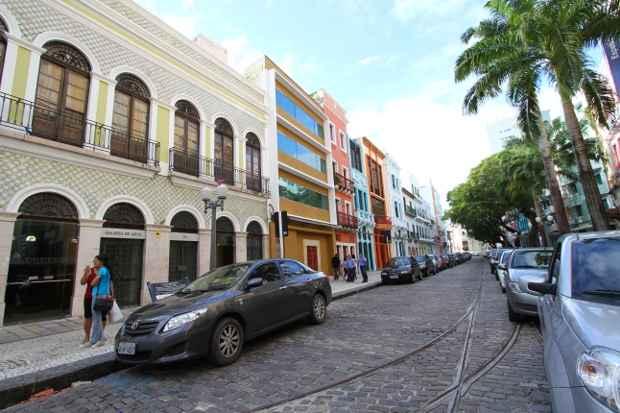 Ruas do Bairro do Recife serão monitoradas por câmeras e equipes de bike. Foto: Paulo Paiva/DP/D.A Press
