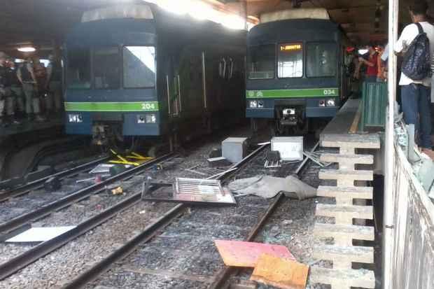 Metrô sofreu pane na estação do Barro, mas houve quebra-quebra na Estação Coqueiral. Foto: Harllom Rodrigues /Facebook/Reprodução