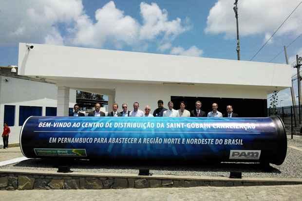 Centro de distribuição da Saint Gobain em Suape consumiu R$ 1 milhão e vai gerar 400 empregos diretos. Foto: Paulo Paiva/DP/D.A Press