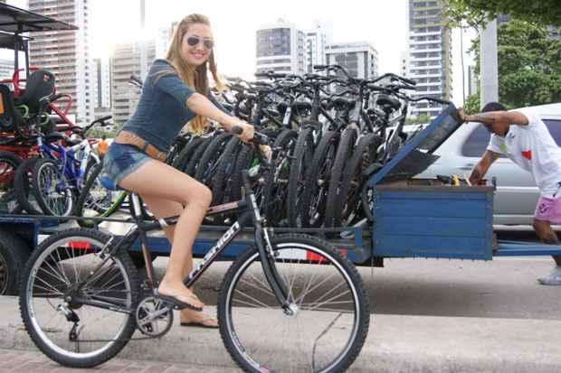 Aluguel é uma alternativa para quem não possui uma bicicleta. Foto: Mariana Fabrício/ Esp DP/ D.A Press