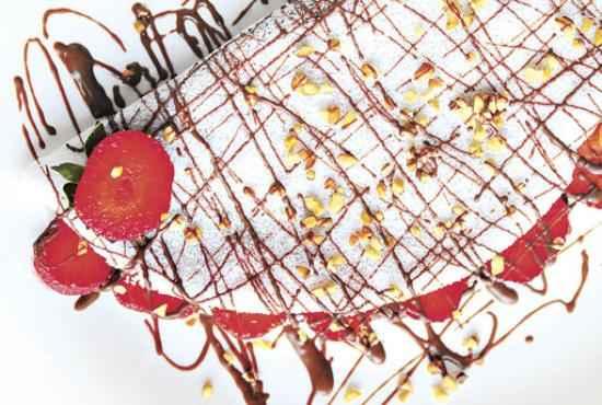 Tapioca com morango: prefer�ncia dos clientes da Ra�zes do Sert�o