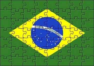 Atual bandeira brasileira tem quatro cores:verde,amarelo, azul e branco  (blogs.diariodepernambuco.com.br)