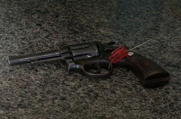 Arma usada no crime. Foto: TV Clube/Reprodução