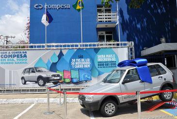 Carro zero quil�metro � um dos pr�mios para clientes em dia inscritos na campanha (Compesa/Divulga��o)
