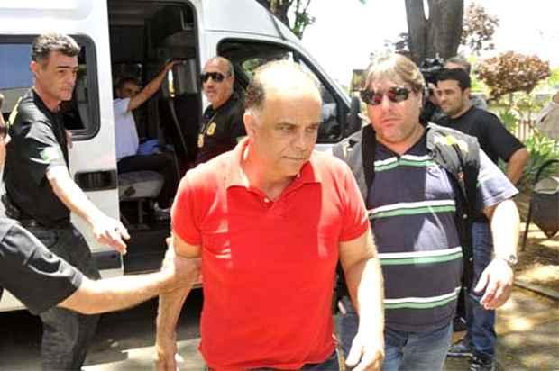 Val�rio est� detido na Papuda, em Bras�lia, e pediu para ser transferido para Minas Gerais. Foto: Juarez Rodrigues/EM/D.A. Press