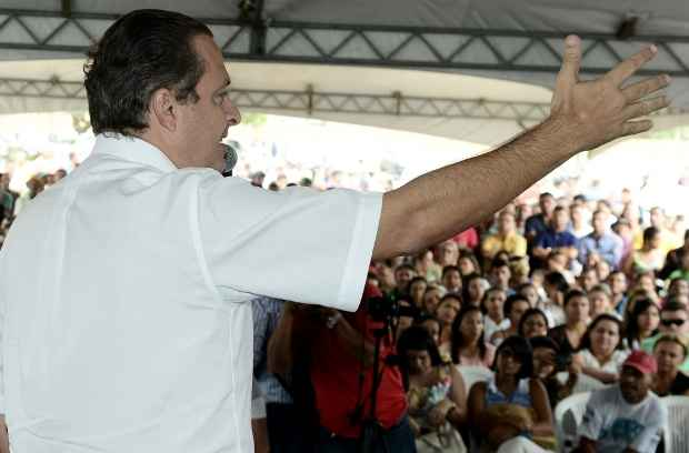 Inaugura��o de UPA especialidade, em Carpina, foi  marcada por clima de campanha e alfinetadas indiretas. Foto: Aluisio Moreira/SEI (Fotos: Aluisio Moreira/SEI)