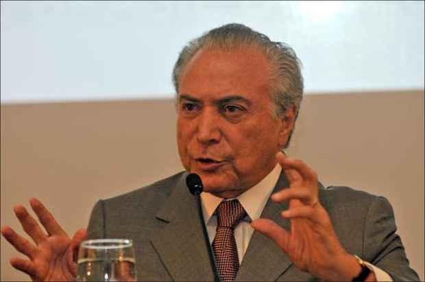 Depois de reunir-se com Dilma, Temer foi a jantar com partid�rios. Foto: Ronaldo de Oliveira/CB/D.A. Press