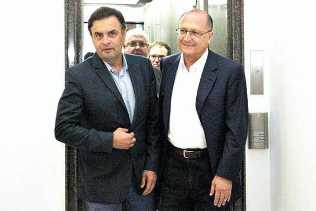 A�cio e Alckmin se reuniram na sede do governo paulista: pol�micas com o PSB fora da pauta. Foto: M�rcio Fernandes/Conte�do Estad�o