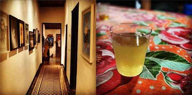 A Casa do Cachorro Preto abre espaço para exposições e shows de artistas locais. Na Licoteria Noctívagos, o forte são os licores de frutas tropicais, como este de cajá (R$ 4)