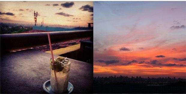 Do restaurante Olinda Art & Grill, no Alto da Sé, bela vista para o pôr do sol. A caipirinha custa R$ 7