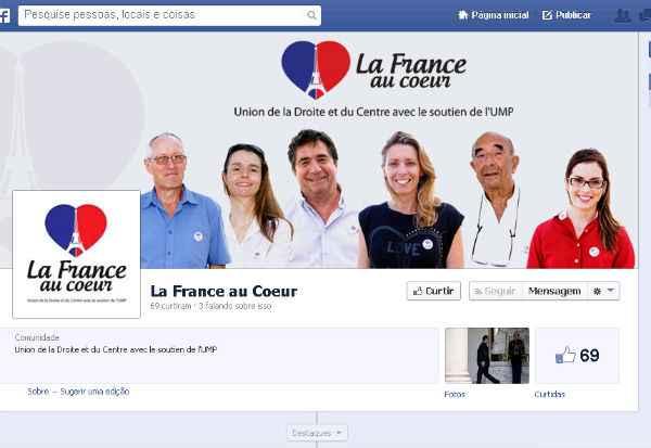Franceses mant�m p�gina no Facebook para tentar conquistar eleitores na col�nia nordestina. Foto: Reprodu��o/Internet (Reprodu��o/Internet)