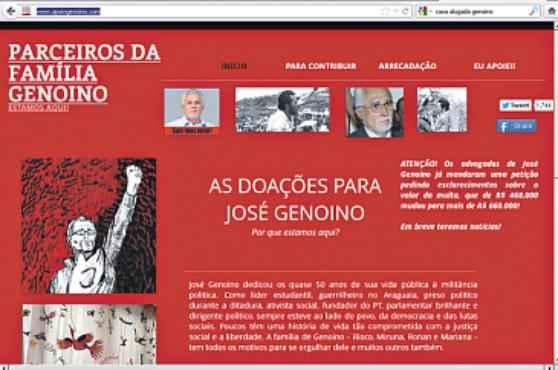 Fam�lia de Jos� Genoino conseguiu arrecadar os R$ 667,5 mil devidos pelo petista � Justi�a. Foto: Reprodu��o