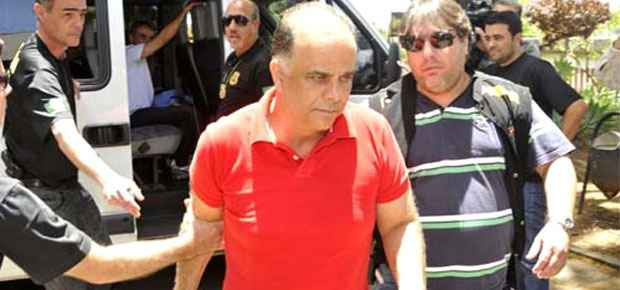 A defesa de Marcos Val�rio pediu que valores que foram bloqueados em 2005 sejam disponibilizados para o pagamento da multa de mais de R$ 4 milh�es (Juarez Rodrigues/EM/D.A. Press)
