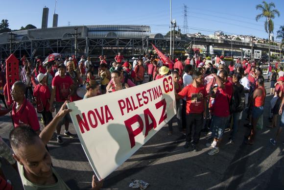 Trabalhadores sem teto participam de marcha por recursos para habita��o foto: Marcelo Camargo/Ag�ncia Brasil  (Marcelo Camargo/Ag�ncia Brasil )