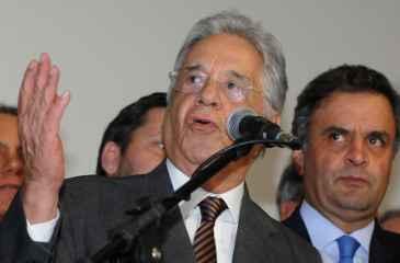 Apesar do elogio ao pernambucano, FHC declarou que o PSDB tem uma estrutura melhor. Foto: Carlos Moura/CB/D.A Press