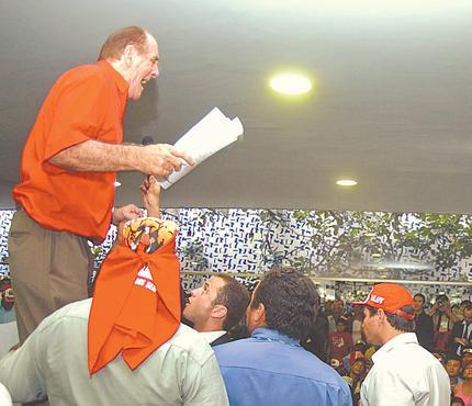 Maranh�o durante invas�o dos sem-terra ao Congresso foto: Daniel Ferreira/CB/D.A PRESS
