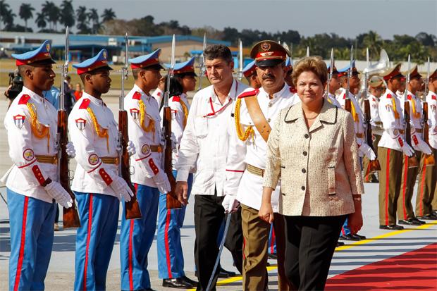 Dilma est� em Cuba, onde participa de inaugura��o de porto financiado com recursos do BNDES foto: Roberto Stuckert Filho/PR  (Roberto Stuckert Filho/PR )