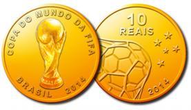Primeiro lote das moedas comemorativas da Copa do Mundo acabou em menos de 24 horas (Divulgac�o/Banco Central do Brasil)