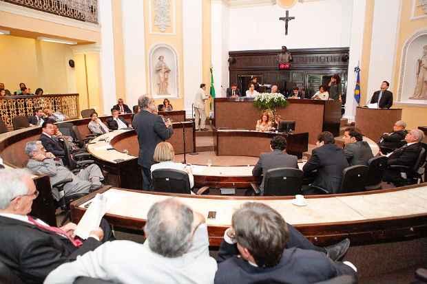Os 49 deputados estaduais retomam as atividades preocupados com a campanha de reelei��o. Foto: Roberto Soares/Assembleia Legislativa (Roberto Soares/Assembleia Legislativa)