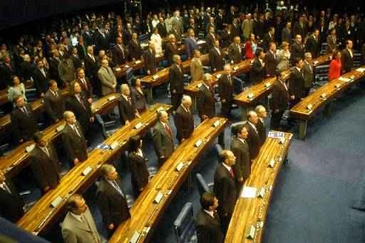 Os senadores realizam a primeira sess�o, �s 18h foto: Marcelo Ferreira/CB  (Marcelo Ferreira/CB)