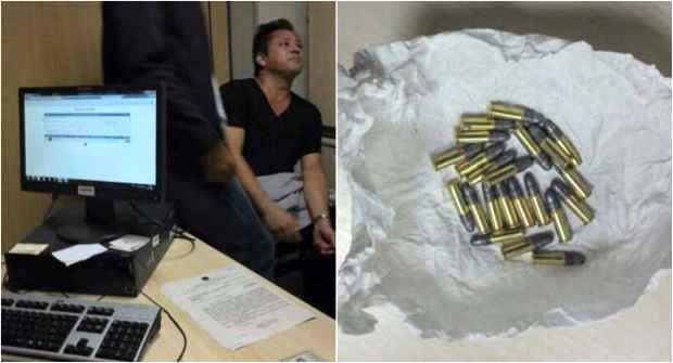 Leonardo ficou detido na PF após tentar embarcar com 22 cartuchos de munição calibre 22. Fotos: Whatsapp/Reprodução
