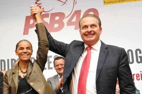 Marina Silva e Eduardo Campos, no lan�amento do programa de governo: 'o candidato � ele', disse a ex-senadora foto: Iano Andrade/CB/D.A Press (Iano Andrade/CB/D.A Press)