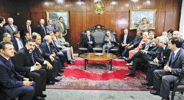 Em reuni�o no Senado, governadores pediram aprova��o de projeto foto: Marcos Oliveira/Ag�ncia Senado (Marcos Oliveira/Ag�ncia Senado)