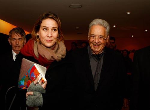 Patr�cia Kundr�t, com o ex-presidente Fernando Henrique: relacionamento dos dois come�ou em 2010 foto: Zanone Fraissat /MONICA BERGAMO (Zanone Fraissat /MONICA BERGAMO)
