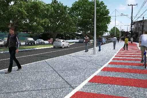 PE-15 será requalificada e ganhará ciclovia até outubro deste ano. Foto: Secretaria das Cidades/Divulgação. (Secretaria das Cidades/Divulgação)