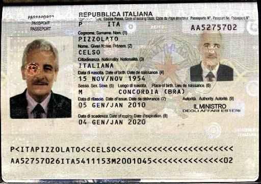 Passaporte falsificado usado por Pizzolato com dados do seu irm�o falecido foto: Interpol/divulga��o (Interpol/divulga��o)