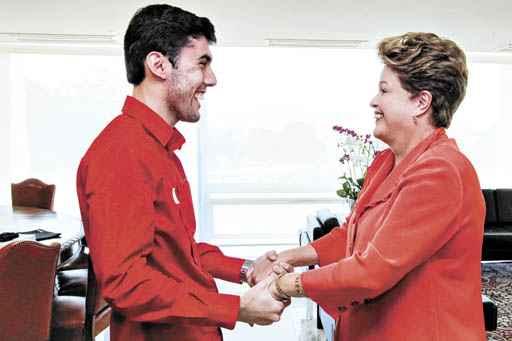 Jeferson e Dilma: caso o deputado assuma a CDHM, ele n�o votar� nela. Repercuss�o preocupa o PT (Roberto Stuckert Filho/PR)