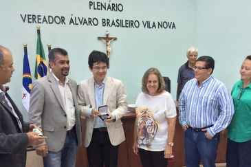 O pr�-candidato a presidente pelo Psol, senador do Amap� Randolfe Rodrigues, recebeu medalha de honra ao m�rito na C�mara Municipal de Garanhuns. Foto: Divulga��o