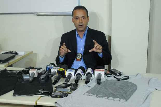 O delegado Maur�cio Luciano � o respons�vel pelo caso. Foto: Fernando Fraz�o/Ag�ncia Brasil
