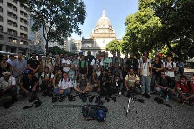 Homenagem ao cinegrafista Santiago Andrade. Foto: Fernando Fraz�o/Ag�ncia Brasil/Arquivo