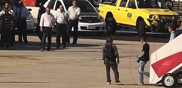 O suspeito chegou no Rio de Janeiro na manh� desta quarta-feira