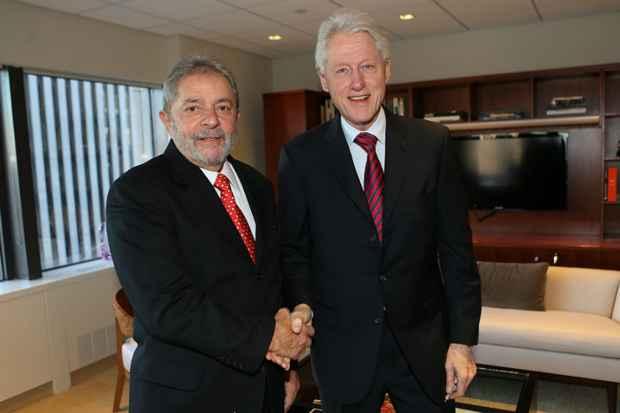 Lula se reuniu com o ex-presidente dos EUA, Bill Clinton no mesmo dia em que o PT lan�ou Dilma Rousseff � reelei��o. Foto: Ricardo Stuckert/Instituto Lula