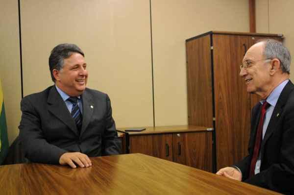 Garotinho e Falc�o durante encontro no Congresso: acordo eleitoral foto: Iano Andrade/CB/D.A Press (Iano Andrade/CB/D.A Press)