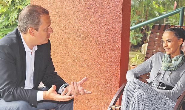 Eduardo Campos e Marina Silva v�m tendo conversas para fechar as alian�as nos estados foto: Roberto Pereira/DIVULGA��O (Roberto Pereira/DIVULGA��O)
