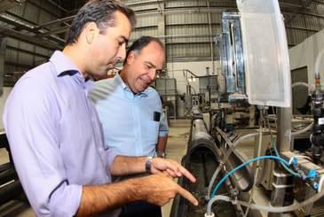 Israelense Netafim anuncia expans�o de produ��o em visita do ex-ministro Fernando Bezerra Coelho, nesta semana (Netafim/Divulga��o)
