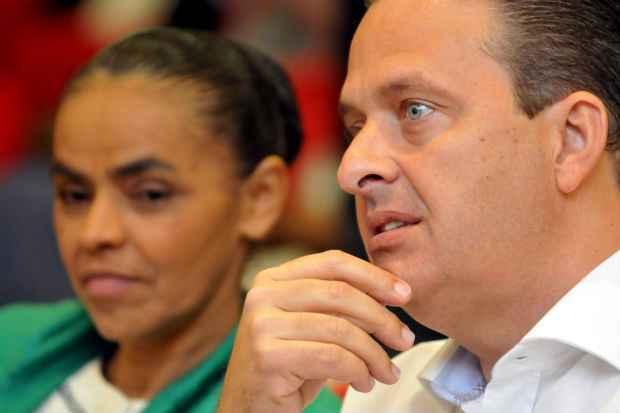 Eduardo Campos e Marina Silva participam de encontro partid�rio em Porto Alegre. Foto: Antonio Cunha/Esp. CB/D.A Press (Antonio Cunha/Esp. CB/D.A Press)