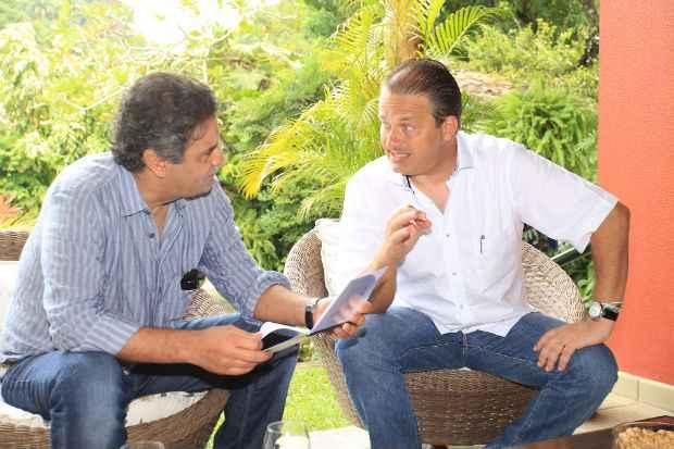 A�cio Neves e Eduardo Campos se reuniram nesta sexta-feira no Recife.Foto: Roberto Pereira/PSB  (Roberto Pereira/PSB )