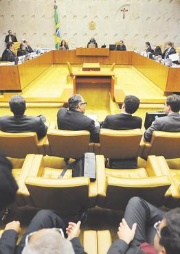 Supremo julgar� recursos relativos � forma��o de quadrilha e lavagem de dinheiro foto: Iano Andrade/CB/D.A PRESS (Iano Andrade/CB/D.A PRESS)
