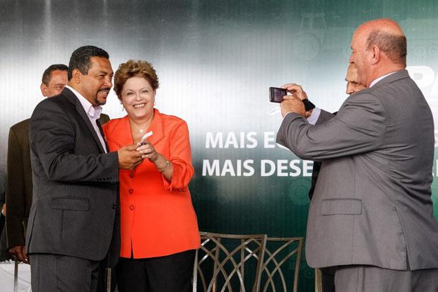 Presidenta Dilma Rousseff durante cerim�nia de entrega de m�quinas a munic�pios de Minas Gerais. Foto: Roberto Stuckert Filho/PR