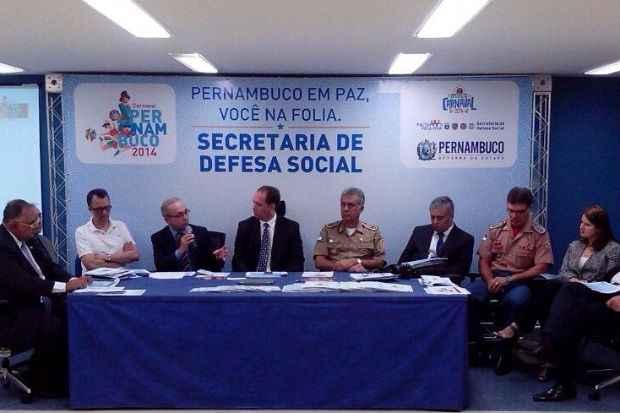 Cúpula da Secretaria de Defesa Social divulga segurança para o carnaval. foto: Priscila Assis/TV Clube