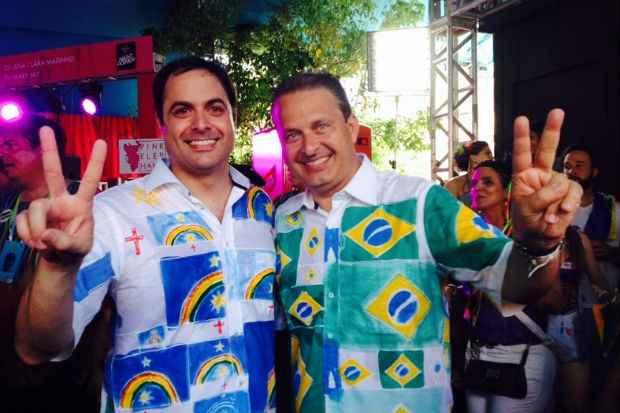 Paulo C�mara vai acompanhar a agenda carnavalesca de Eduardo Campos nos pr�ximos dias. Foto: Teresa Maia/DP/D.A Press (Teresa Maia/DP/D.A Press)