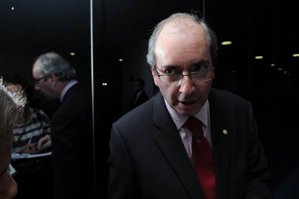 Eduardo Cunha: apesar das cr�ticas do l�der na C�mara, o PMDB resiste em romper com os petistas. Foto: Carlos Moura/CB/D.A Press  (Carlos Moura/CB/D.A )