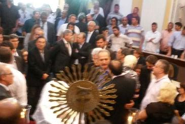 Ministro Aldo Rebelo representa a presidente Dilma no vel�rio. Foto: Franco Benites/Esp.DP/D.A Press (Franco Benites/Esp.DP/D.A Press)